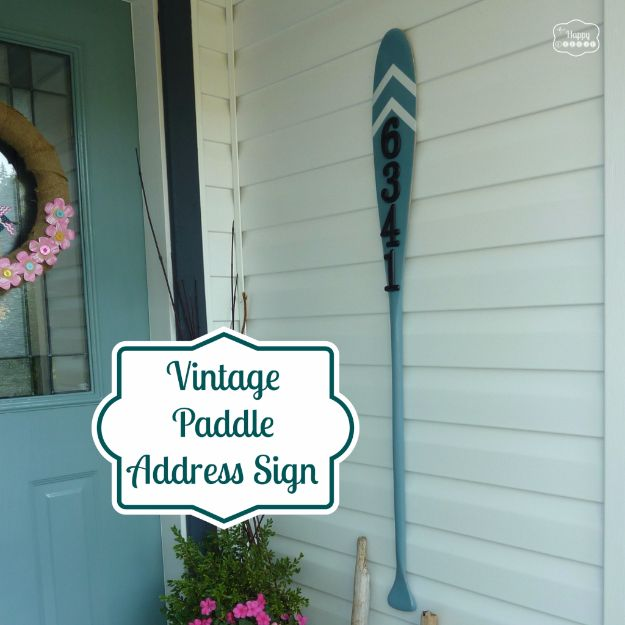 DIY House Numbers - Vintage Paddle Address Sign - DIY Numbers To Put In Front Yard and At Front Door - Architectural Numbers and Creative Do It Yourself Projects for Making House Numbers - Easy Step by Step Tutorials and Project Ideas for Home Improvement on A Budget #homeimprovement #diyhomedecor