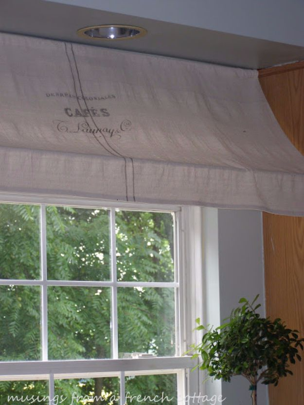 Cool DIY Ideas With Tension Rods - Window Awning - Quick Do It Yourself Projects, Easy Ways To Save Money, Hacks You Can Do With A Tension Rod - Window Treatments, Small Spaces, Apartments, Storage