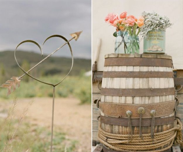 DIY Outdoors Wedding Ideas - Wine Barrel Wedding Decor - Step by Step Tutorials and Projects Ideas for Summer Brides - Lighting, Mason Jar Centerpieces, Table Decor, Party Favors, Guestbook Ideas, Signs, Flowers, Banners, Tablecloth #wedding #diy