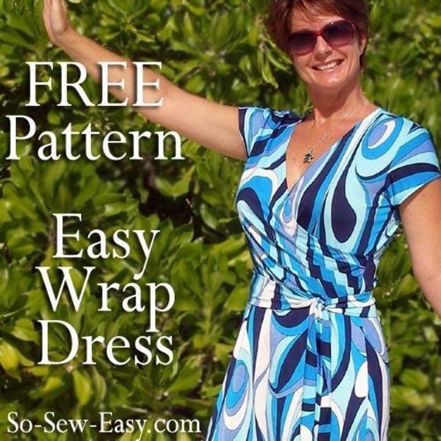 DIY Dresses to Sew for Summer - Wrap Summer Dress - Best Free Patterns For Dress Ideas - Easy and Cheap Clothes to Make for Women and Teens - Step by Step Sewing Projects - Short, Summer, Winter, Fall, Inexpensive DIY Fashion