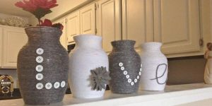 She Buys Dollar Store Vases And Wraps Yarn On Them. The Result Is Stunning (Watch!)