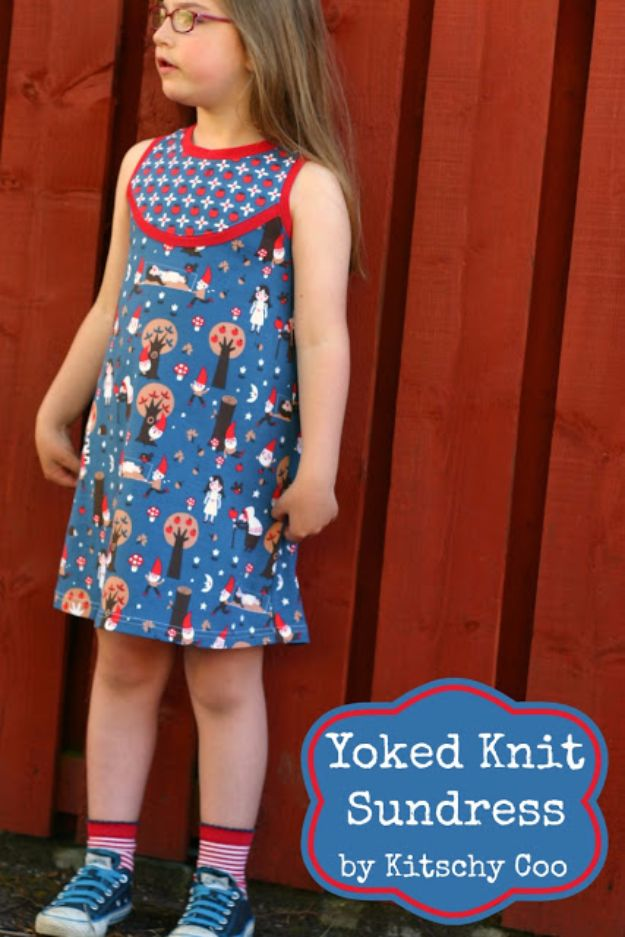 DIY Dresses to Sew for Summer - Yoked Knit Sundress - Best Free Patterns For Dress Ideas - Easy and Cheap Clothes to Make for Women and Teens - Step by Step Sewing Projects - Short, Summer, Winter, Fall, Inexpensive DIY Fashion http://diyjoy.com/sewing-dresses-patterns-summer
