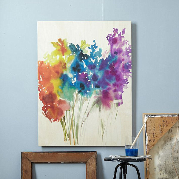 DIY Canvas Painting Ideas -  Abstract Flowers Canvas Painting- Cool and Easy Wall Art Ideas You Can Make On A Budget #painting #diyart #diygifts
