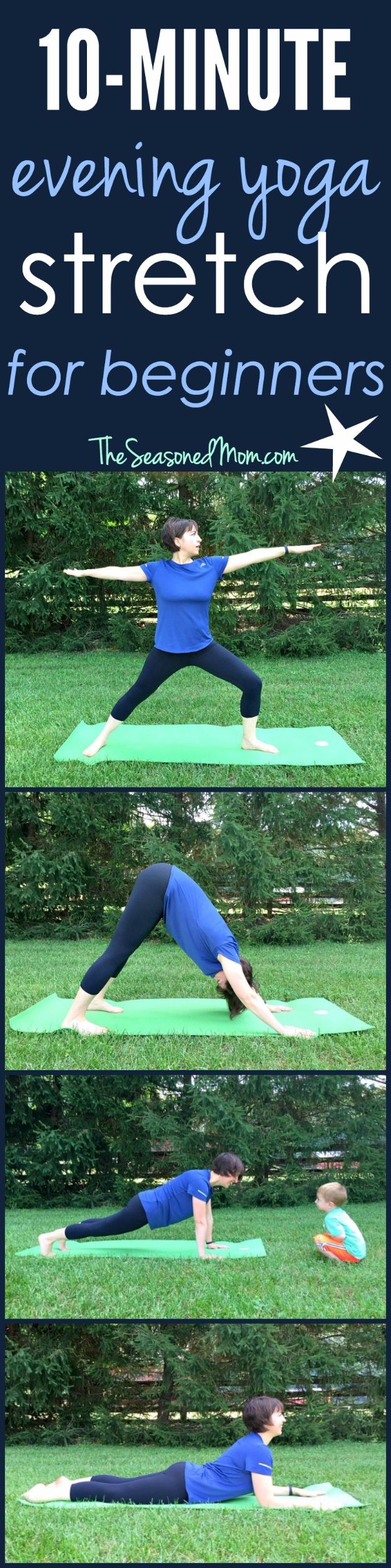 Best Quick At Home Workouts - 10 Minute Evening Yoga Stretch For Beginners - Easy Tutorials and Work Out Ideas for Strength Training and Exercises - Step by Step Tutorials for Butt Workouts, Abs Tummy and Stomach, Legs, Arms, Chest and Back - Fast 5 and 10 Minute Workouts You Can Do On Your Lunch Break, In Car, in Hotel #exercise #health