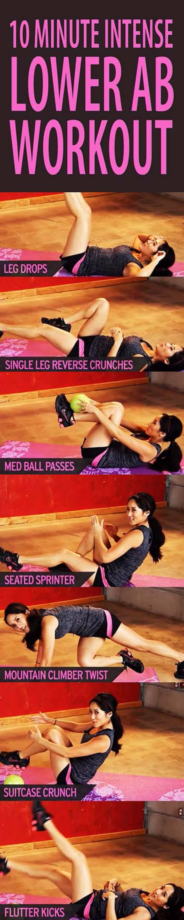 Best Quick At Home Workouts - 10 Minute Intense Lower Ab Workout - Easy Tutorials and Work Out Ideas for Strength Training and Exercises - Step by Step Tutorials for Butt Workouts, Abs Tummy and Stomach, Legs, Arms, Chest and Back - Fast 5 and 10 Minute Workouts You Can Do On Your Lunch Break, In Car, in Hotel #exercise #health