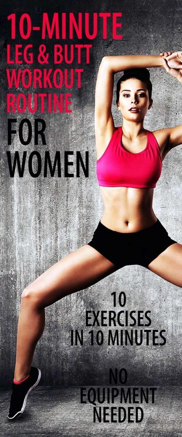 Best Quick At Home Workouts - 10 Minute Leg And Butt Workout Routine - Easy Tutorials and Work Out Ideas for Strength Training and Exercises - Step by Step Tutorials for Butt Workouts, Abs Tummy and Stomach, Legs, Arms, Chest and Back - Fast 5 and 10 Minute Workouts You Can Do On Your Lunch Break, In Car, in Hotel #exercise #health