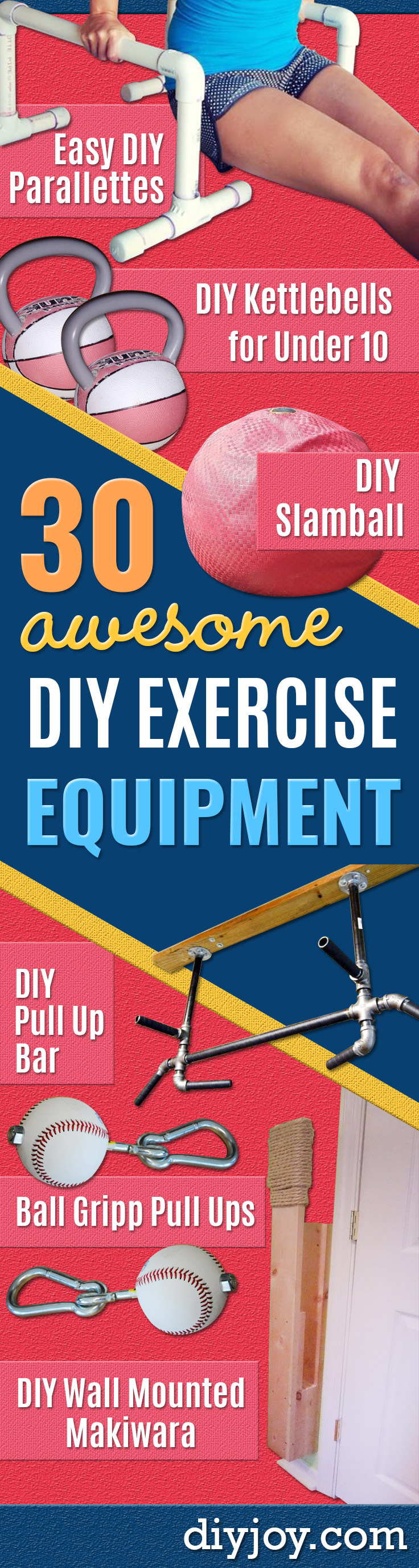 DIY Exercise Equipment Projects - Homemade Weights and Strength Training Projects - How To Build Simple and Easy Fitness Equipment, Yoga Mats, PVC Pipe Ideas for Butt Workouts, Strength Training and Do It Yourself Workouts At Home