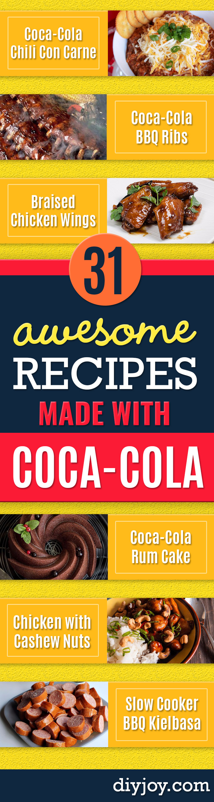 Best Coca Cola Recipes - Make Awesome Coke Chicken, Coca Cola Cake, Meatballs, Sodas, Drinks, Sweets, Dinners, Meat, Slow Cooker and Recipe Ideas With Cake Mixes - Fun Food Projects For Families and Parties With Step By Step Tutorials Best Coca Cola Recipes - Make Awesome Coke Chicken, Coca Cola Cake, Meatballs, Sodas, Drinks, Sweets, Dinners, Meat, Slow Cooker and Recipe Ideas With Cake Mixes #cocacola #recipes #desserts