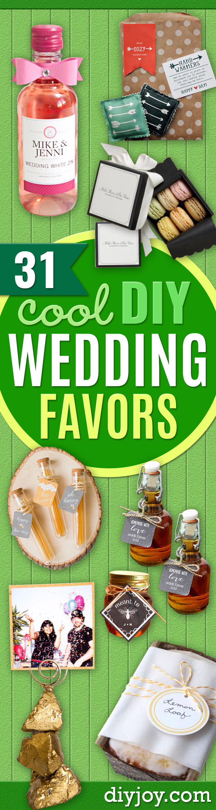 diy wedding favors to make- Do It Yourself Ideas for Brides and easy wedding favor DIY idea - Step by Step Tutorials for Making Mason Jars, Rustic Crafts, Flowers, Small Gifts, Modern Decor, Vintage - cheap wedding favor ideas