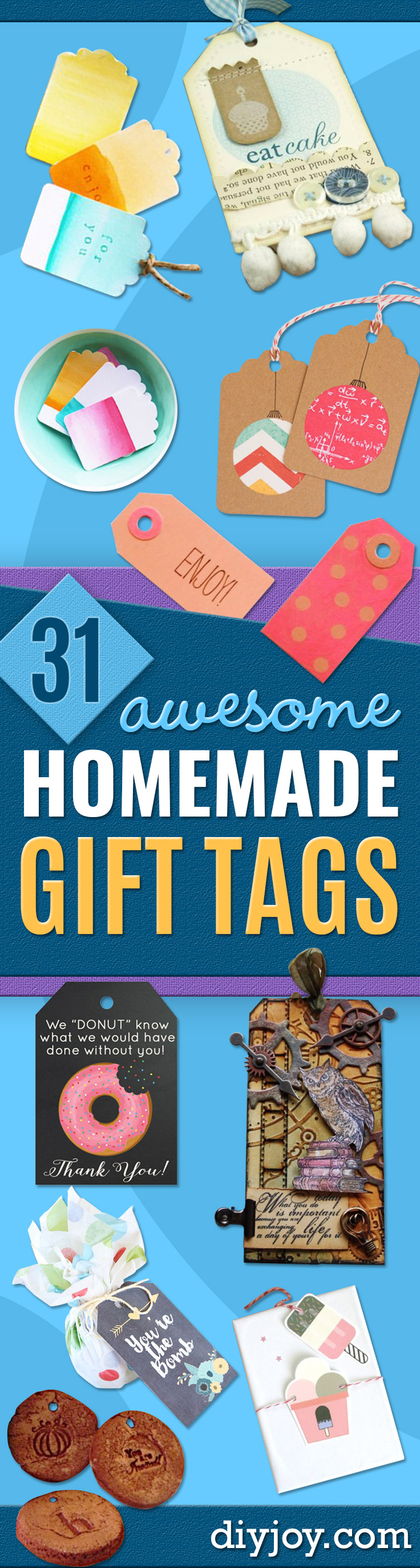 Homemade Gift Cards and Tags - Easy and Cheap Ideas for Creative Handmade Birthday, Christmas, Mothers Day and Father Day Cards - Cute Holiday Gift Tags, Dollar Store Crafts, Homemade DIY Gifts and Gift Card Holders You Can Make at Home - Fun Crafts for Adults, Kids and Teens http://diyjoy.com/homemade-gift-cards-tags