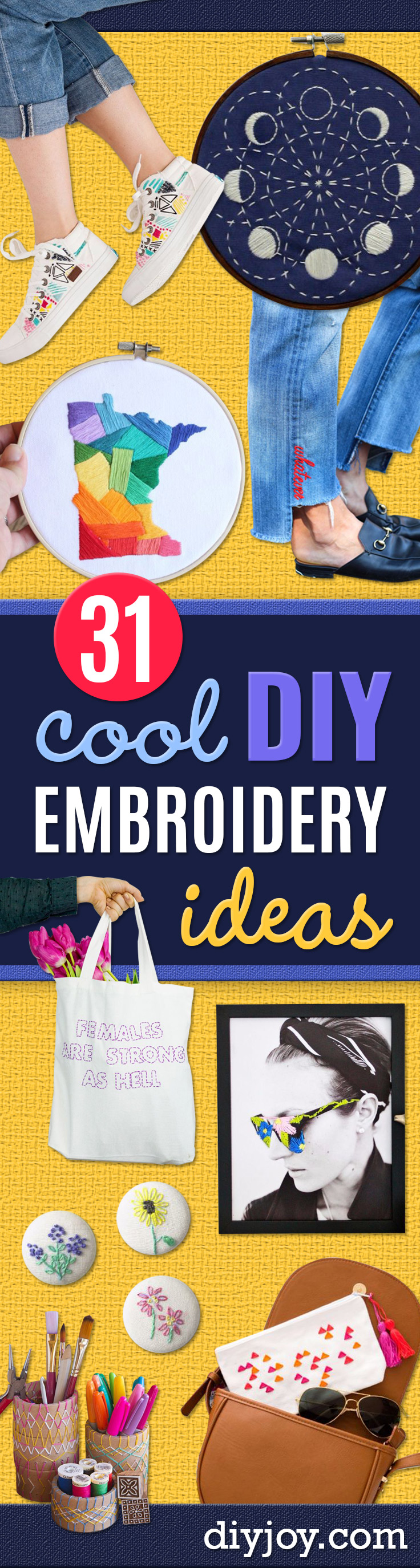 free embroidery patterns - embroidery gifts ideas - Best Embroidery Projects and Step by Step DIY Tutorials for Making Home Decor, Wall Art, Pillows and Creative Handmade Sewing Gifts