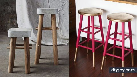 31 DIY Barstools To Make For The Home   DIY Joy Projects and Crafts Ideas