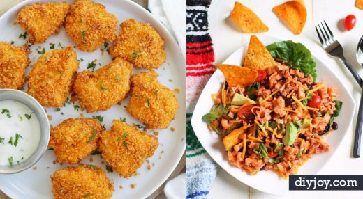 DIY Recipes Made With Doritos - Best Dorito Recipes for Casserole, Taco Salad, Chicken Dinners, Beef Casseroles, Nachos, Easy Cool Ranch Meals and Ideas for Dips, Snacks and Kids Recipe Tutorials - Quick Lunch Ideas and Recipes for Parties