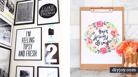 35 Best Free Printables for Your Walls | DIY Joy Projects and Crafts Ideas