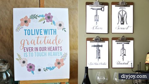 75 Best Free Printables for Your Walls | DIY Joy Projects and Crafts Ideas