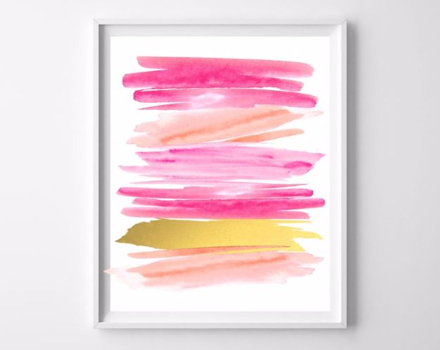 Best Free Printables For Your Walls - Abstract Watercolor Free Printable - Free Prints for Wall Art and Picture to Print for Home and Bedroom Decor - Crafts to Make and Sell With Ideas for the Home, Organization #diy