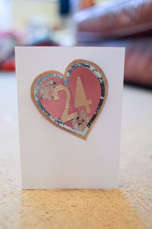 DIY Birthday Cards - Adding The Age Birthday Card - Easy and Cheap Handmade Birthday Cards To Make At Home - Cute Card Projects With Step by Step Tutorials are Perfect for Birthdays for Mom, Dad, Kids and Adults - Pop Up and Folded Cards, Creative Gift Card Holders and Fun Ideas With Cake #birthdayideas #birthdaycards