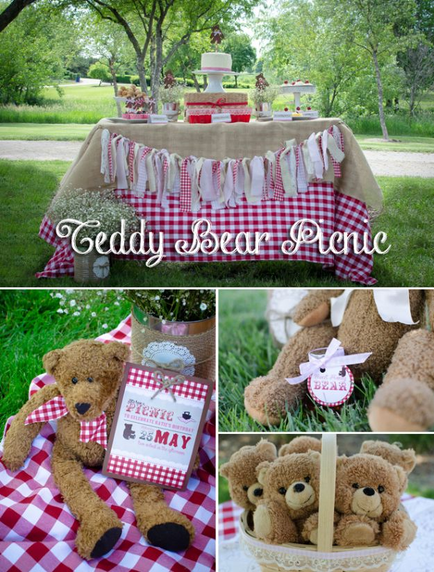 DIY Picnic Ideas - Adorable Teddy Bear Picnic Party - Cool Recipes and Tips for Picnics and Meals Outdoors - Recipes, Easy Sandwich Wraps, Blankets, Baskets and Carriers to Make for Fun Family Outings and Romantic Date Ideas - Mason Jar Drinks, Snack Holders, Utensil Caddy and Picnic Hacks