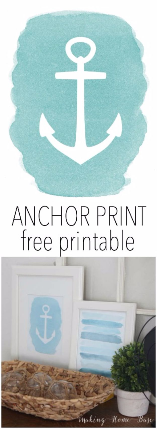 Best Free Printables For Your Walls - Anchor Print Free Printable - Free Prints for Wall Art and Picture to Print for Home and Bedroom Decor - Crafts to Make and Sell With Ideas for the Home, Organization #diy