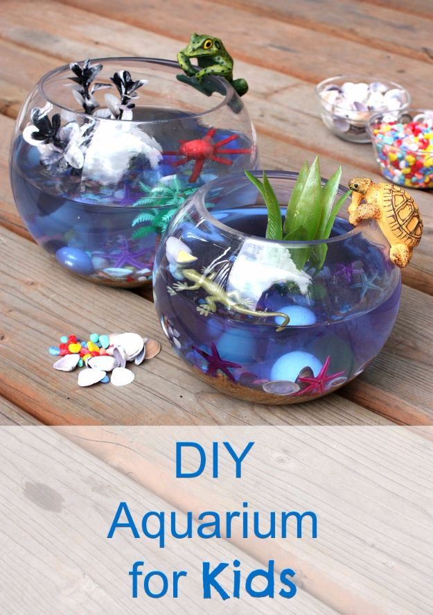 DIY Aquarium Ideas - DIY Aquarium For Kids - Cool and Easy Decorations for Tank Aquariums, Mason Jar, Wall and Stand Projects for Fish - Creative Background Ideas - Fun Tutorials for Kids to Make With Plants and Decor - Best Home Decor and Crafts by DIY JOY