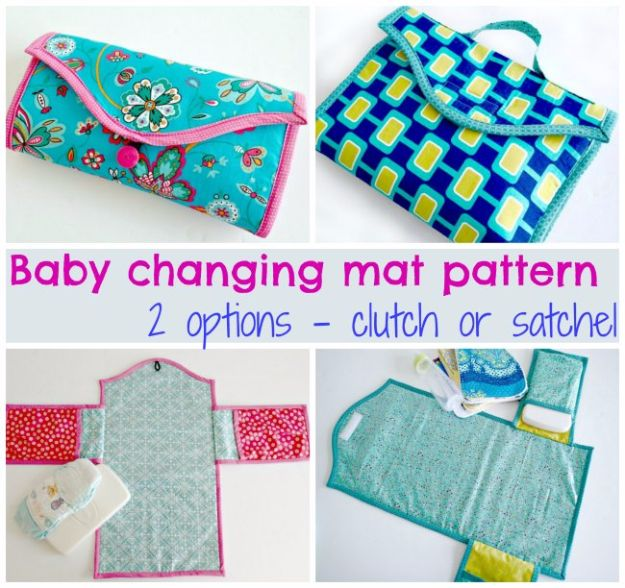 DIY Ideas for Newborn - Baby Changing Mat - Do It Yourself Projects for the New Baby Boy or Girl - Nursery and Room Decor, Gear and Products, Safety Ideas and Other Practical Items Make Great DIY Baby Gifts