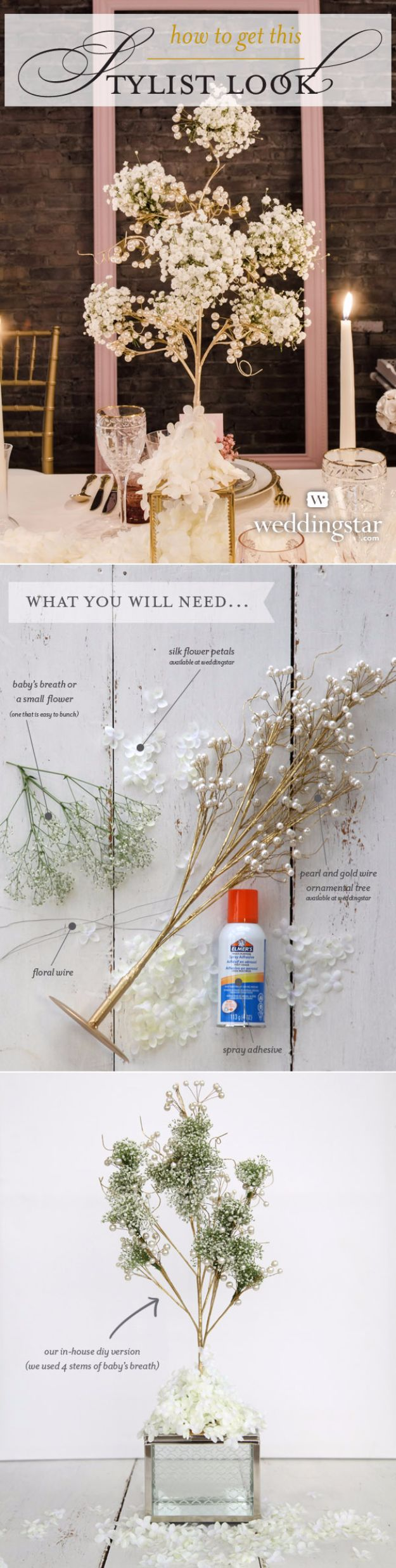 DIY Wedding Centerpieces - Baby's Breath Centerpiece - Do It Yourself Ideas for Brides and Best Centerpiece Ideas for Weddings - Step by Step Tutorials for Making Mason Jars, Rustic Crafts, Flowers, Modern Decor, Vintage and Cheap Ideas for Couples on A Budget Outdoor and Indoor Weddings #diyweddings #weddingcenterpieces #weddingdecorideas
