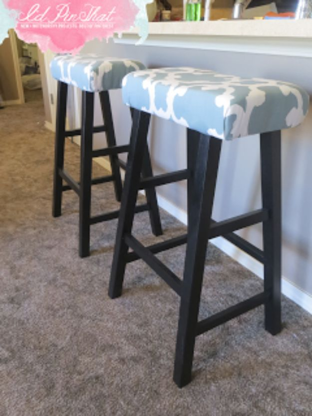 diy barstools - Bar Stool Face Lift - Easy and Cheap Ideas for Seating and Creative Home Decor - Do It Yourself Bar Stools for Modern, Rustic, Farmhouse, Shabby Chic, Industrial and Simple Classic Decor #barstools #diy