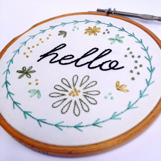 Free Embroidery Patterns - Basic Hand Embroidery - Best Embroidery Projects and Step by Step DIY Tutorials for Making Home Decor, Wall Art, Pillows and Creative Handmade Sewing Gifts embroidery gifts diy ideas