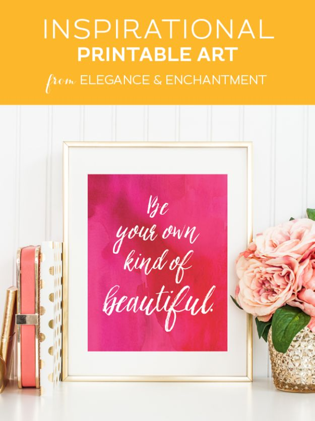 Best Free Printables For Your Walls - Be Your Own Kind Of Beautiful - Free Prints for Wall Art and Picture to Print for Home and Bedroom Decor - Crafts to Make and Sell With Ideas for the Home, Organization #diy