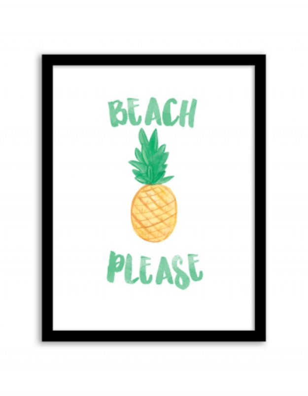 Best Free Printables For Your Walls - Beach Please Wall Art - Free Prints for Wall Art and Picture to Print for Home and Bedroom Decor - Crafts to Make and Sell With Ideas for the Home, Organization #diy