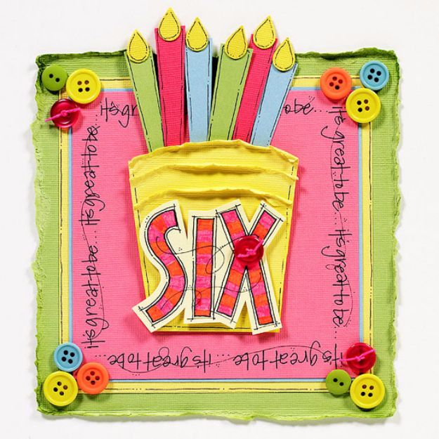 DIY Birthday Cards - Birthday Cake Card - Easy and Cheap Handmade Birthday Cards To Make At Home - Cute Card Projects With Step by Step Tutorials are Perfect for Birthdays for Mom, Dad, Kids and Adults - Pop Up and Folded Cards, Creative Gift Card Holders and Fun Ideas With Cake http://diyjoy.com/diy-birthday-cards