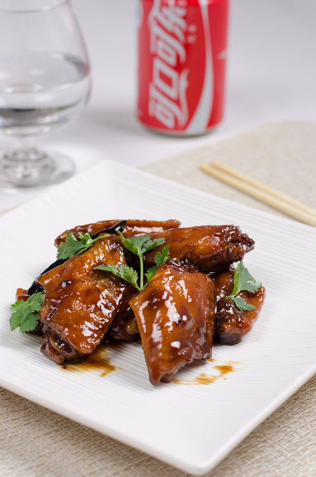 Best Coca Cola Recipes - Braised Coca-Cola Chicken Wings - Make Awesome Coke Chicken, Coca Cola Cake, Meatballs, Sodas, Drinks, Sweets, Dinners, Meat, Slow Cooker and Recipe Ideas #cocacola #recipes #desserts