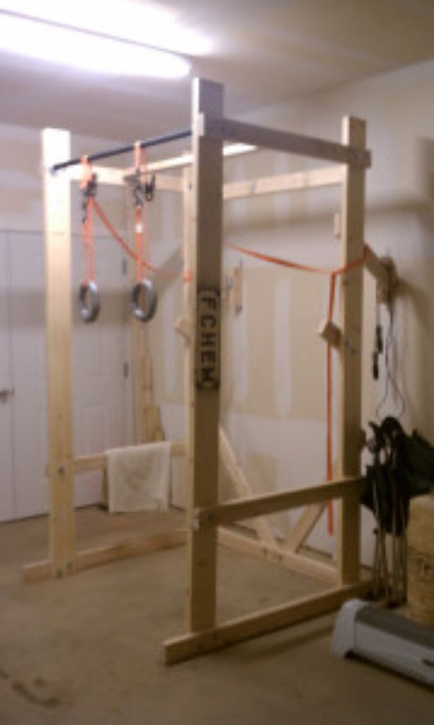 DIY Exercise Equipment Projects - Build Your Own Power Rack - Homemade Weights and Strength Training Projects - How To Build Simple and Easy Fitness Equipment, Yoga Mats, PVC Pipe Ideas for Butt Workouts, Strength Training and Do It Yourself Workouts At Home t