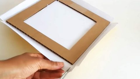 What She Makes With Cardboard Will Certainly Surprise You (Watch!)