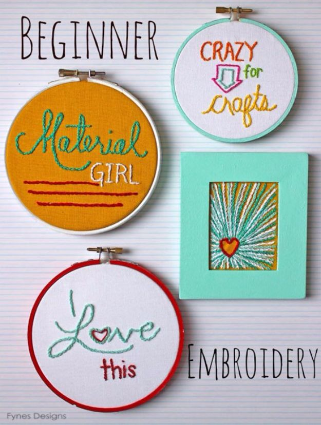 Free Embroidery Patterns - Cheap Art Embroidery - Best Embroidery Projects and Step by Step DIY Tutorials for Making Home Decor, Wall Art, Pillows and Creative Handmade Sewing Gifts embroidery gifts diy ideas