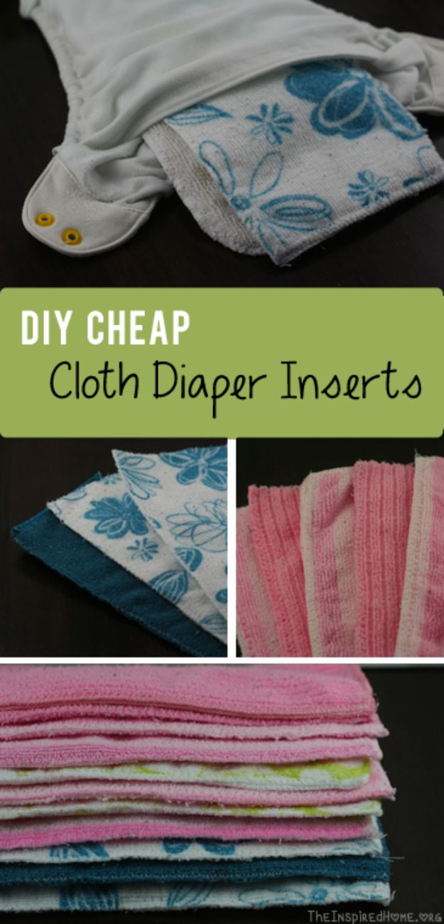 DIY Ideas for Newborn - Cheap Cloth Diaper Inserts - Do It Yourself Projects for the New Baby Boy or Girl - Nursery and Room Decor, Gear and Products, Safety Ideas and Other Practical Items Make Great DIY Baby Gifts