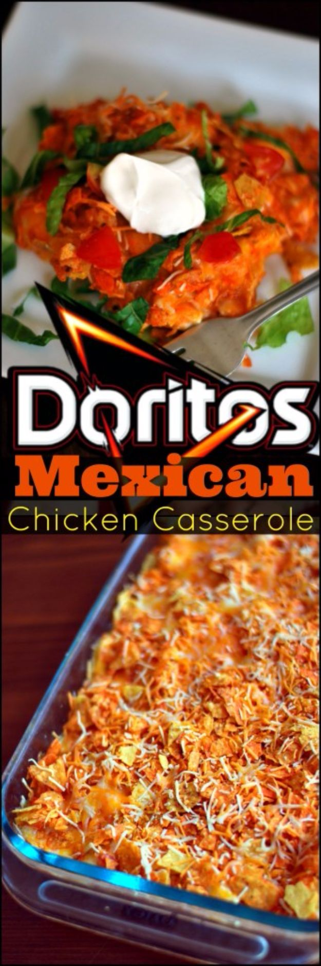DIY Recipes Made With Doritos - Chicken And Doritos Casserole - Best Dorito Recipes for Casserole, Taco Salad, Chicken Dinners, Beef Casseroles, Nachos, Easy Cool Ranch Meals and Ideas for Dips, Snacks and Kids Recipe Tutorials - Quick Lunch Ideas and Recipes for Parties http://diyjoy.com/recipe-ideas-doritos
