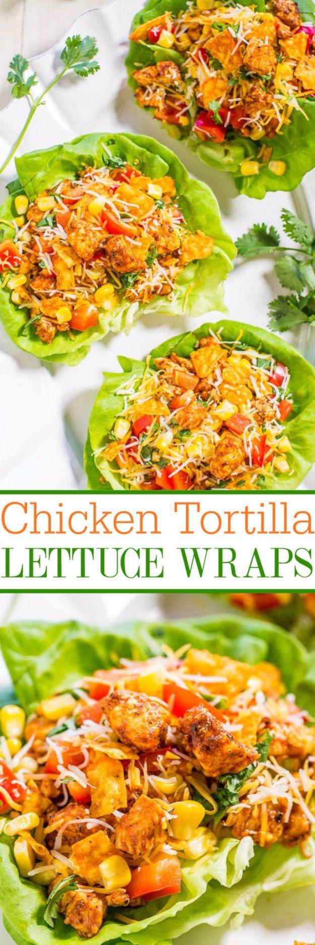 Chicken Tortilla Lettuce Wraps
