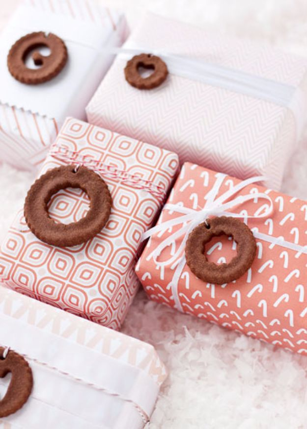 Homemade Gift Cards and Tags - Cinnamon Dough Gift Embellishments - Easy and Cheap Ideas for Creative Handmade Birthday, Christmas, Mothers Day and Father Day Cards - Cute Holiday Gift Tags, Dollar Store Crafts, Homemade DIY Gifts and Gift Card Holders You Can Make at Home - Fun Crafts for Adults, Kids and Teens http://diyjoy.com/homemade-gift-cards-tags