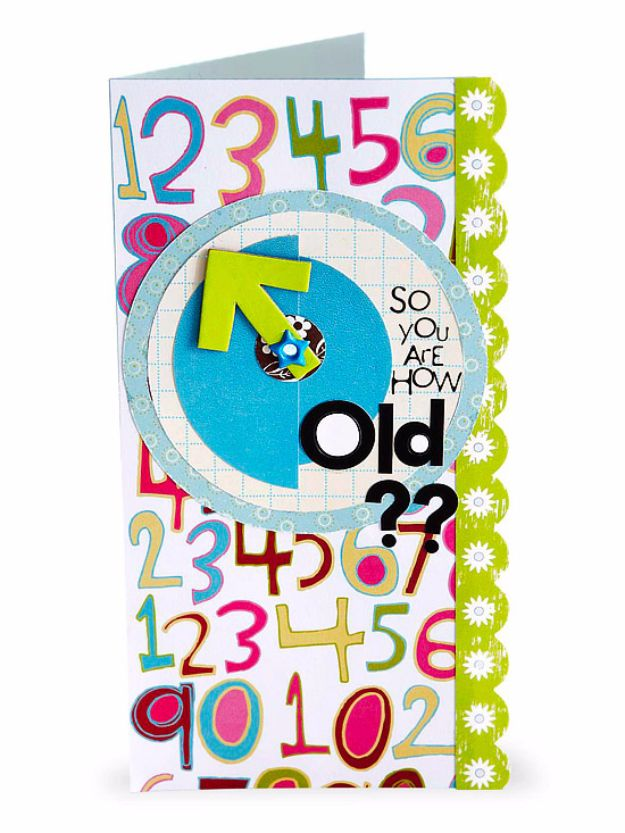 DIY Birthday Cards - Clever Birthday Card - Easy and Cheap Handmade Birthday Cards To Make At Home - Cute Card Projects With Step by Step Tutorials are Perfect for Birthdays for Mom, Dad, Kids and Adults - Pop Up and Folded Cards, Creative Gift Card Holders and Fun Ideas With Cake http://diyjoy.com/diy-birthday-cards