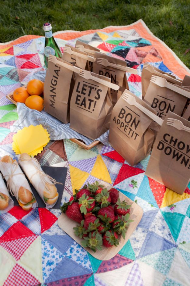 DIY Picnic Ideas - Clip On Picnic Utensils - Cool Recipes and Tips for Picnics and Meals Outdoors - Recipes, Easy Sandwich Wraps, Blankets, Baskets and Carriers to Make for Fun Family Outings and Romantic Date Ideas - Mason Jar Drinks, Snack Holders, Utensil Caddy and Picnic Hacks