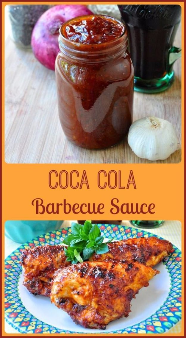 Best Coca Cola Recipes - Coca Cola Barbecue Sauce - Make Awesome Coke Chicken, Coca Cola Cake, Meatballs, Sodas, Drinks, Sweets, Dinners, Meat, Slow Cooker and Recipe Ideas #cocacola #recipes #desserts