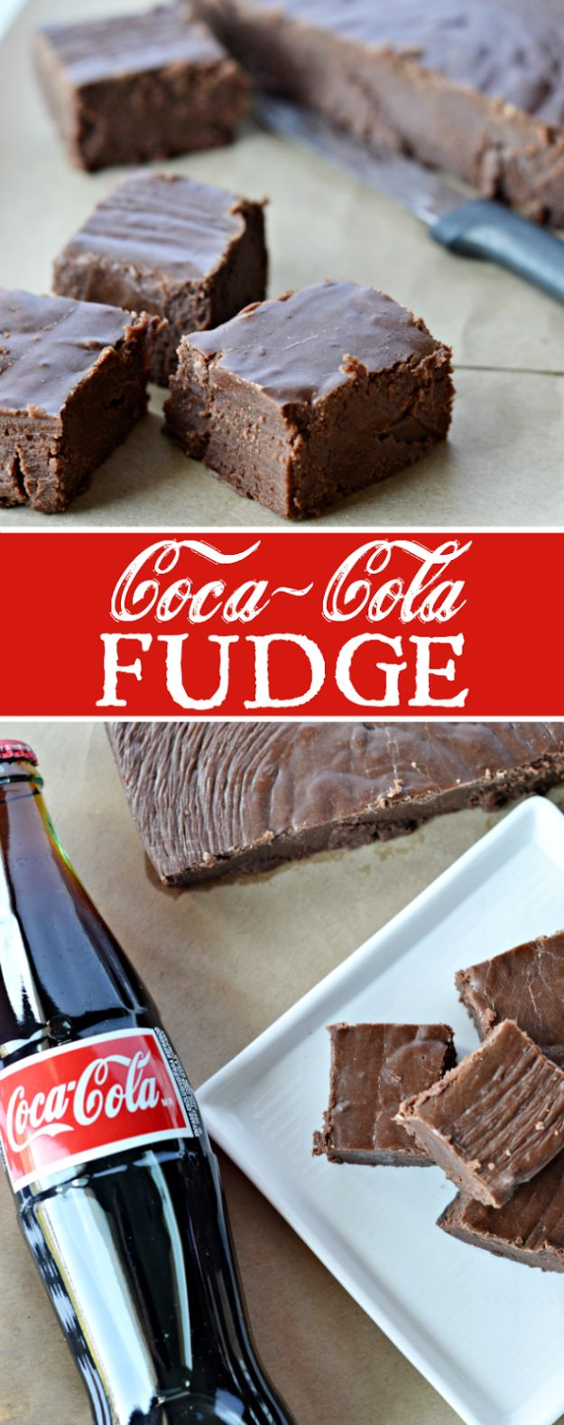 Best Coca Cola Recipes - Coca Cola Fudge - Make Awesome Coke Chicken, Coca Cola Cake, Meatballs, Sodas, Drinks, Sweets, Dinners, Meat, Slow Cooker and Recipe Ideas #cocacola #recipes #desserts