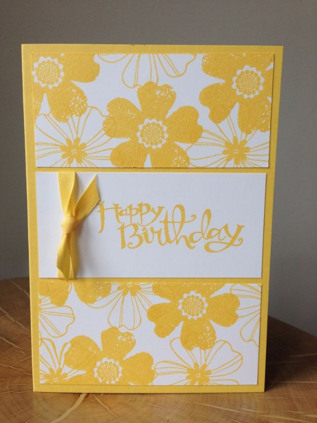 DIY Birthday Cards - Color Coordinated Birthday Card - Easy and Cheap Handmade Birthday Cards To Make At Home - Cute Card Projects With Step by Step Tutorials are Perfect for Birthdays for Mom, Dad, Kids and Adults - Pop Up and Folded Cards, Creative Gift Card Holders and Fun Ideas With Cake http://diyjoy.com/diy-birthday-cards
