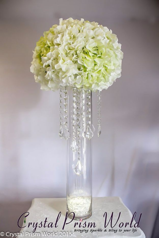 DIY Wedding Centerpieces - Crystals And Chains Centerpiece - Do It Yourself Ideas for Brides and Best Centerpiece Ideas for Weddings - Step by Step Tutorials for Making Mason Jars, Rustic Crafts, Flowers, Modern Decor, Vintage and Cheap Ideas for Couples on A Budget Outdoor and Indoor Weddings #diyweddings #weddingcenterpieces #weddingdecorideas