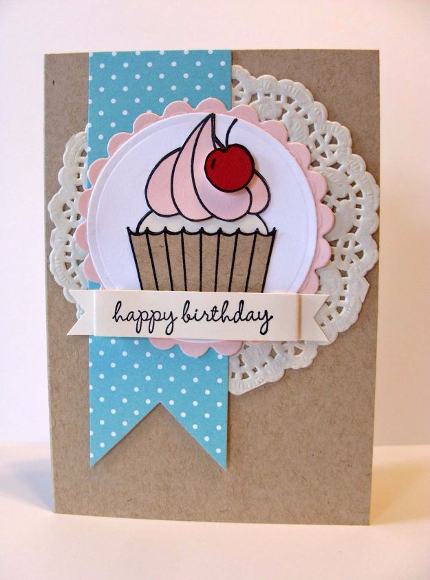 30 creative ideas for handmade birthday cards diy birthday cards cupcake diy birthday card easy and cheap handmade birthday cards to m4hsunfo