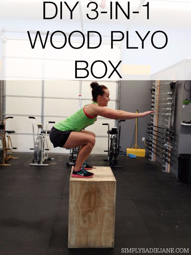 DIY Exercise Equipment Projects - DIY 3 In 1 Wood Plyo Box - Homemade Weights and Strength Training Projects - How To Build Simple and Easy Fitness Equipment, Yoga Mats, PVC Pipe Ideas for Butt Workouts, Strength Training and Do It Yourself Workouts At Home t