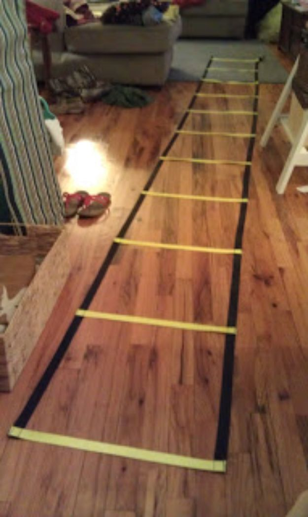 DIY Exercise Equipment Projects - DIY Agility Ladder - Homemade Weights and Strength Training Projects - How To Build Simple and Easy Fitness Equipment, Yoga Mats, PVC Pipe Ideas for Butt Workouts, Strength Training and Do It Yourself Workouts At Home t