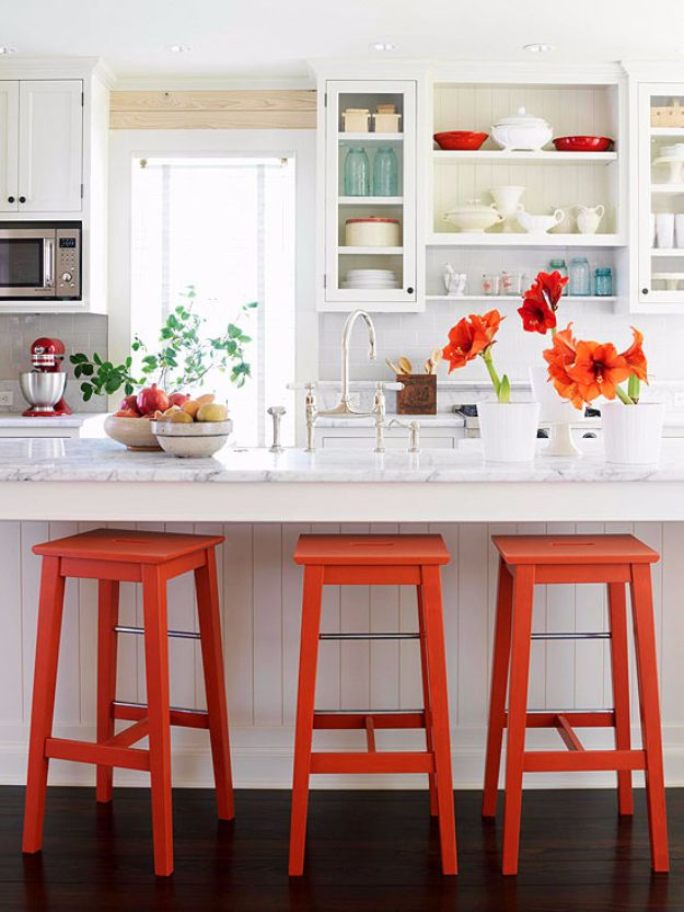 diy barstools - DIY Bar Stools With Metal Accents - Easy and Cheap Ideas for Seating and Creative Home Decor - Do It Yourself Bar Stools for Modern, Rustic, Farmhouse, Shabby Chic, Industrial and Simple Classic Decor #barstools #diy