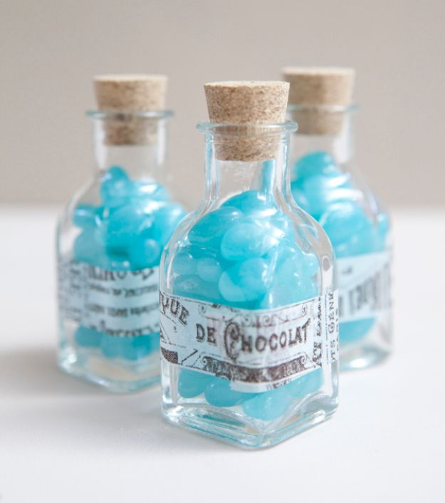 DIY Wedding Favors - DIY Candy Jars - Do It Yourself Ideas for Brides and Best Wedding Favor Ideas for Weddings - cheap wedding favor ideas #wedding #diy